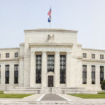 Panoramic image of the Federal Reserve Building in downtown Washington DC, USA.